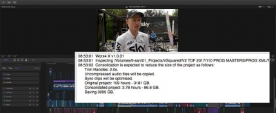 Terabytes of storage saved on Tour de France by using Worx4 X